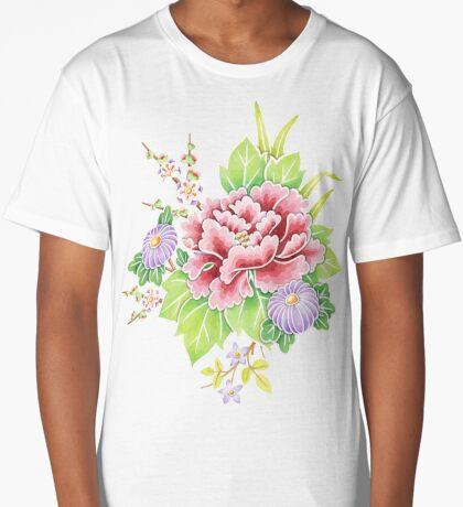 Kimono Bouquet Long T-Shirt