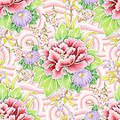 Pink Kimono Bouquet by PatriciaSheaArt