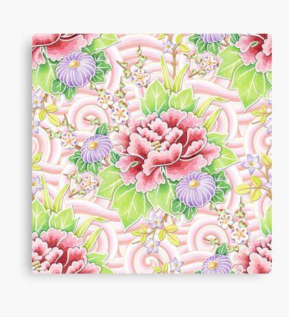 Pink Kimono Bouquet Canvas Print