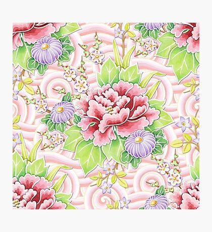 Pink Kimono Bouquet Photographic Print