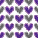 Hearts Beat (Purple) Pattern by KristyKate