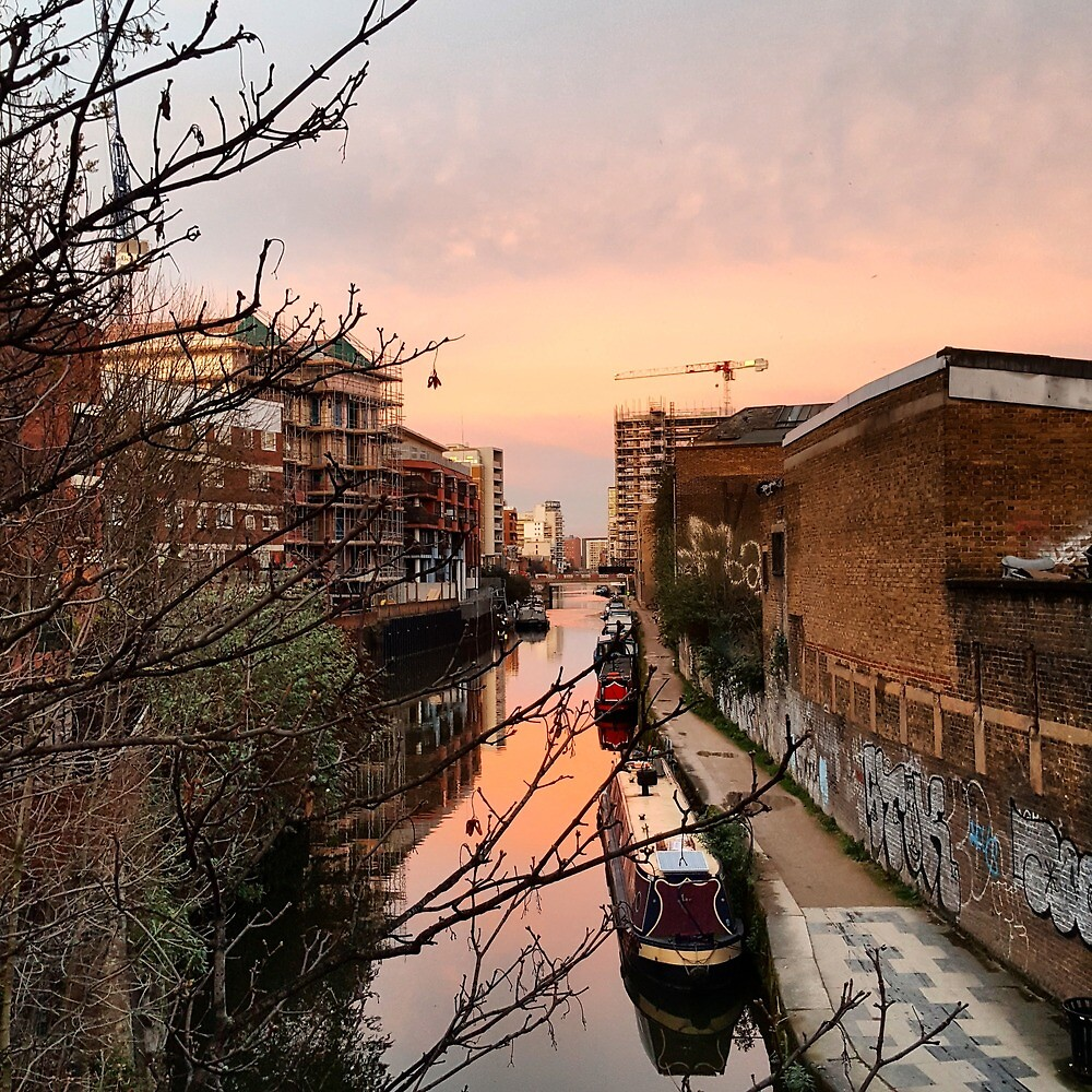 East London - Limehouse Cut in the Evening by jamies-art