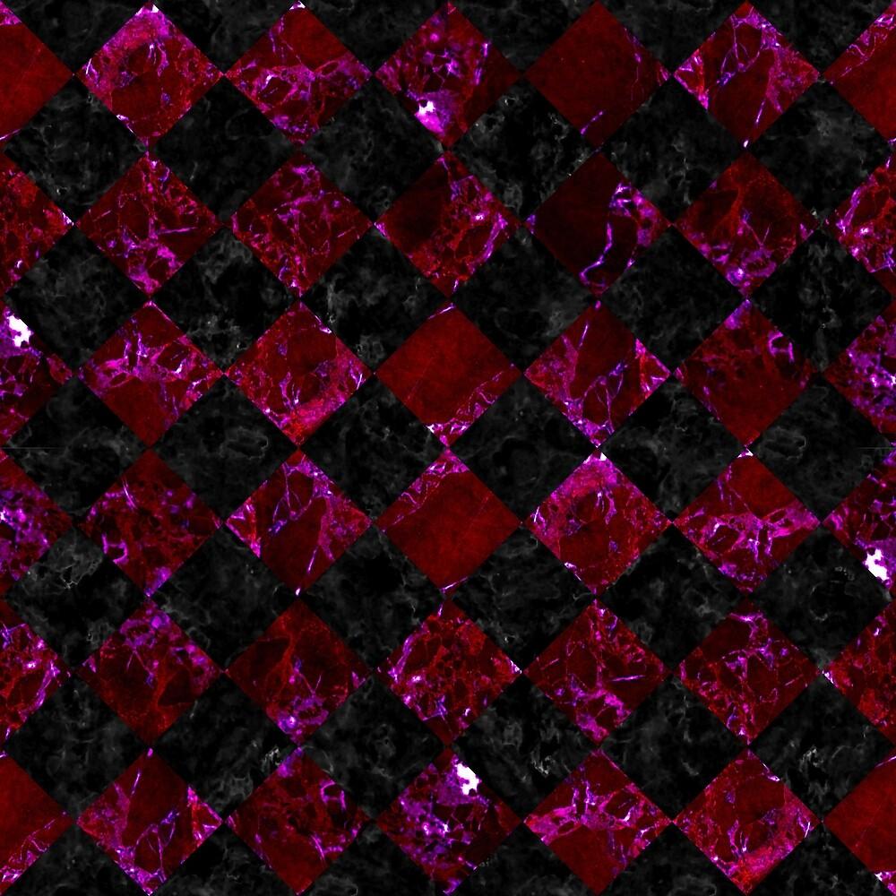 SQUARE2 BLACK MARBLE & BURGUNDY MARBLE by johnhunternance