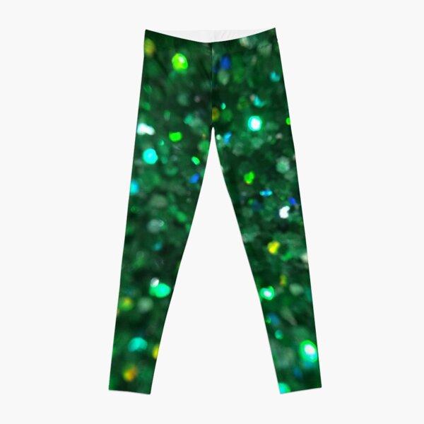Emerald Glitter Splosion Leggings