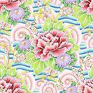 Pastel Kimono Bouquet by PatriciaSheaArt