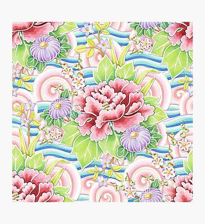 Pastel Kimono Bouquet Photographic Print