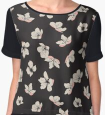 Spring blossom floral pattern Women's Chiffon Top