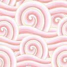 Pink Auspicious Waves by PatriciaSheaArt