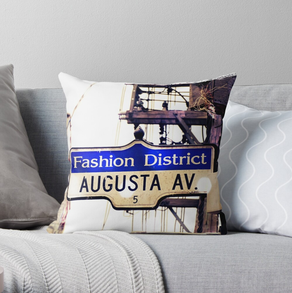Augusta Ave  Throw Pillow