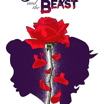 Beauty and the beast rose petals by usikasao