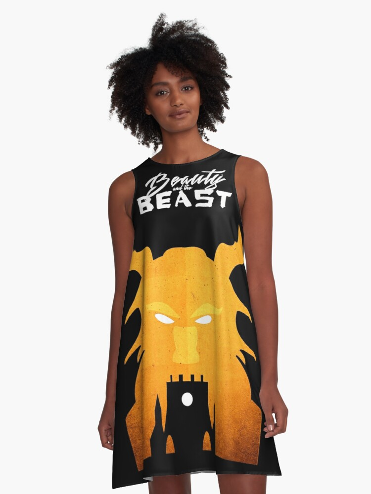 Beast from beauty and the beast A-Line Dress Front