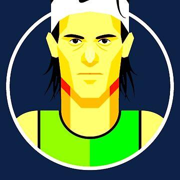 Rafael Nadal by usikasao