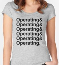 OPERATING&OPERATING&OPERATING Women's Fitted Scoop T-Shirt
