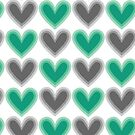 Hearts Beat (Green) Pattern by KristyKate