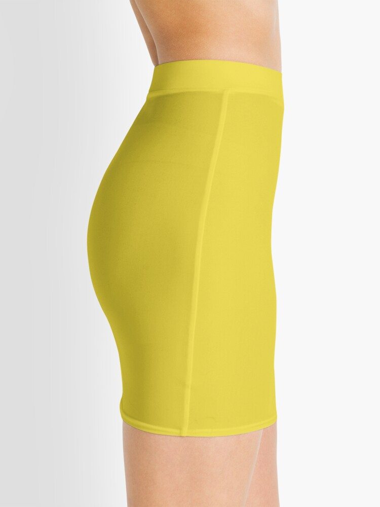Alternative Ansicht von Butterblume | Pantone Fashion Color Frühling: Sommer 2016 | Einfarbig Minirock