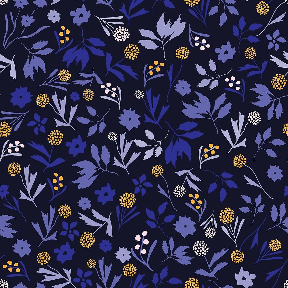 Woodland floral pattern by SaryandSaff
