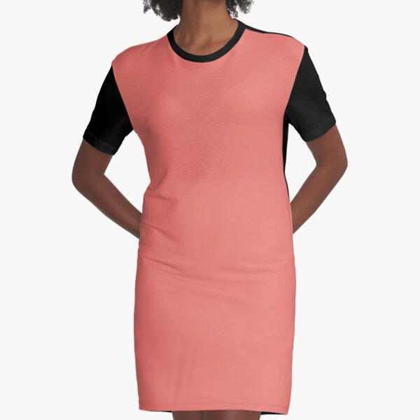 Peach Echo 16-1548 TCX | Pantone | Color Trends | Spring Summer 2016 | Solid Colors | Fashion Colors | Graphic T-Shirt Dress