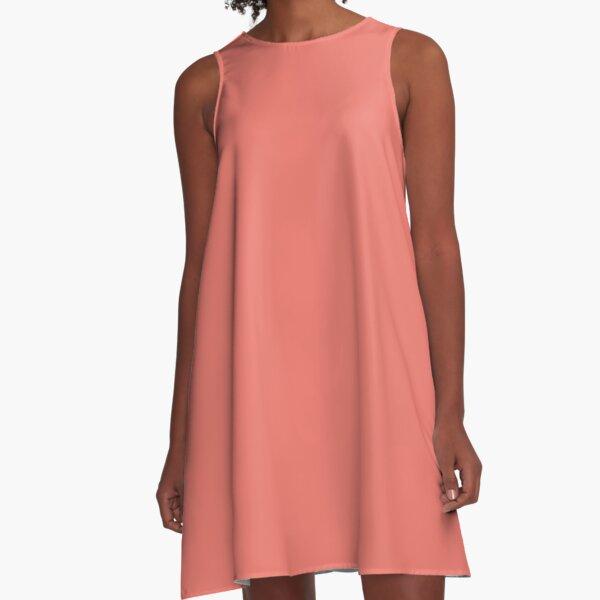 Peach Echo 16-1548 TCX | Pantone | Color Trends | Spring Summer 2016 | Solid Colors | Fashion Colors | A-Line Dress