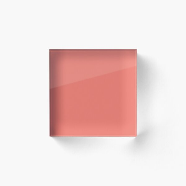 Peach Echo 16-1548 TCX | Pantone | Color Trends | Spring Summer 2016 | Solid Colors | Fashion Colors | Acrylic Block