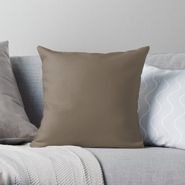 Mocha Brown   Solid Color    Throw Pillow