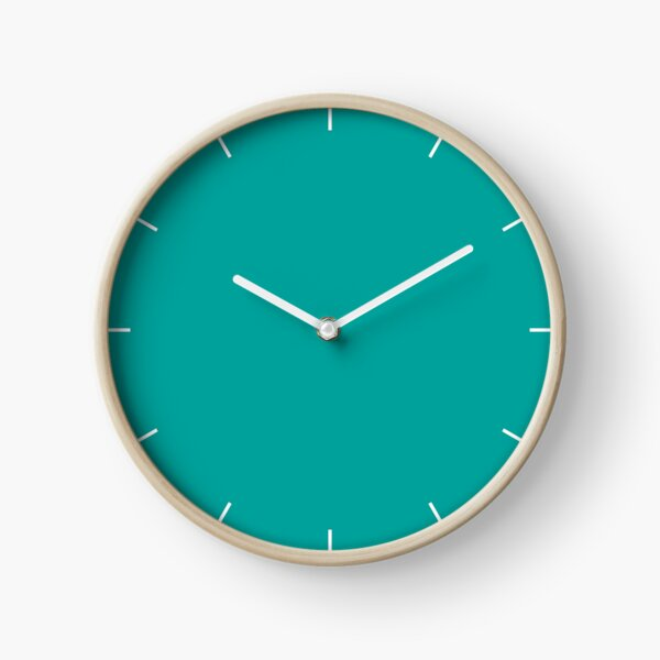 Teal | Solid Color |  Clock