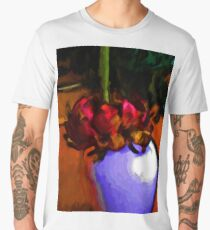 Dying Flower of Red and Green Men's Premium T-Shirt