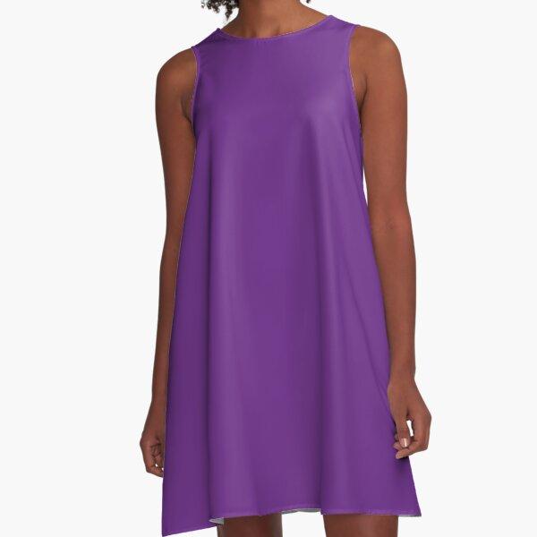 Purple | Solid Color |  A-Line Dress