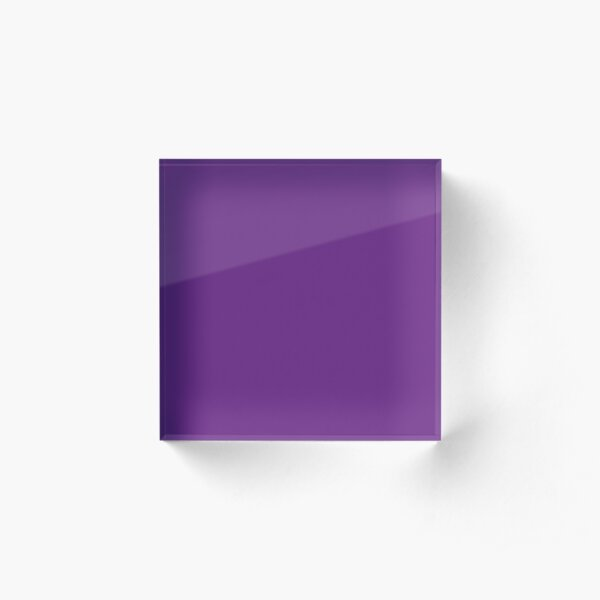 Purple | Solid Color |  Acrylic Block