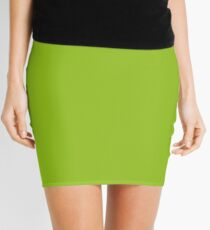 Lime Green | Solid Color Mini Skirt