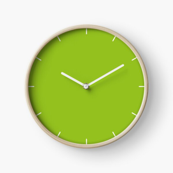 Lime Green | Solid Color |  Clock