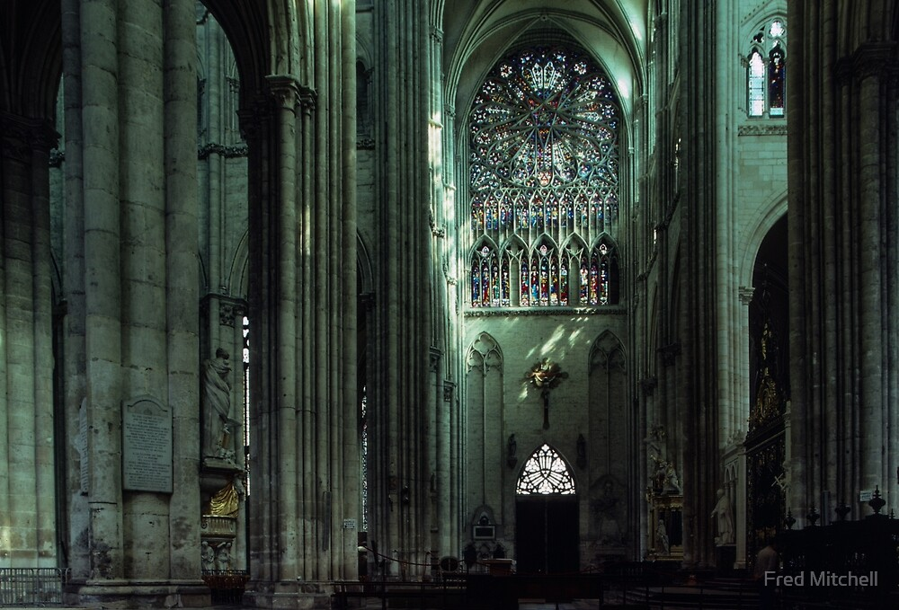C14 North transept Rose window, Amiens, France 19840821 0010 by Fred Mitchell