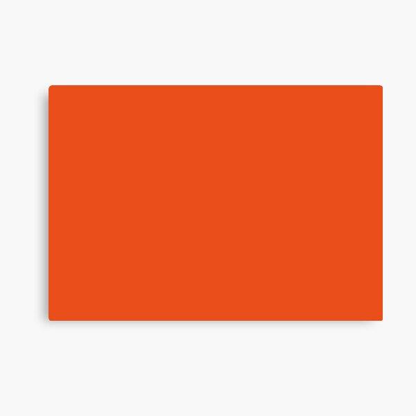 Burnt Orange | Solid Color |  Canvas Print