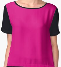 Hot Pink | Solid Color Chiffon Top
