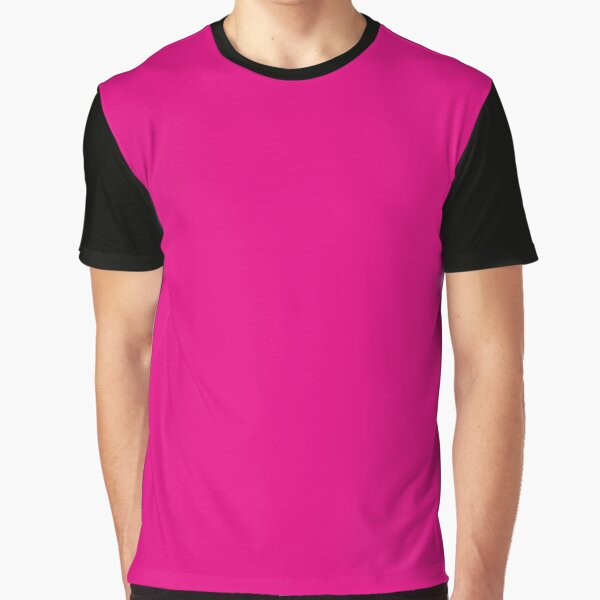 Hot Pink | Solid Color |  Graphic T-Shirt