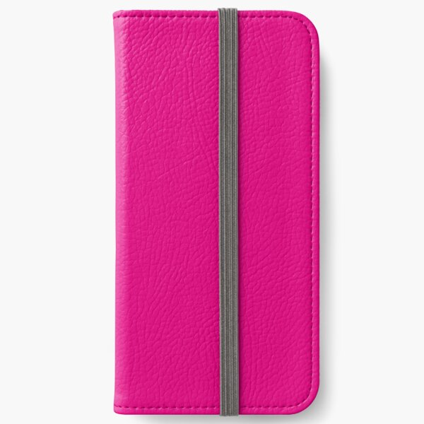 Hot Pink   Solid Color    iPhone Wallet