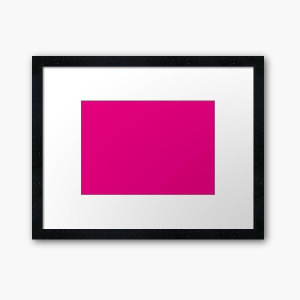 Hot Pink | Solid Color |  Framed Art Print