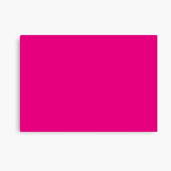 Hot Pink | Solid Color |  Canvas Print