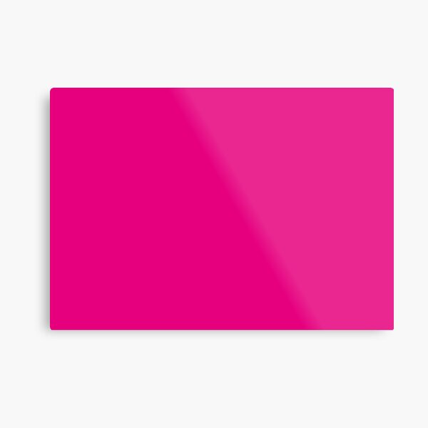Hot Pink | Solid Color |  Metal Print