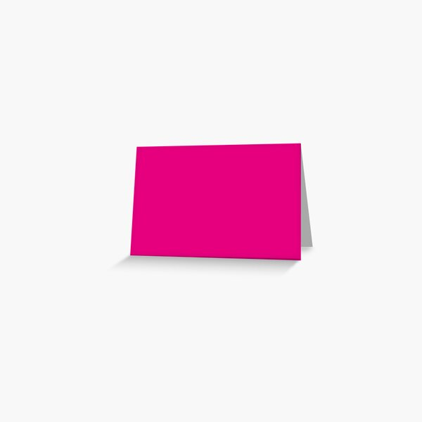Hot Pink | Solid Color |  Greeting Card
