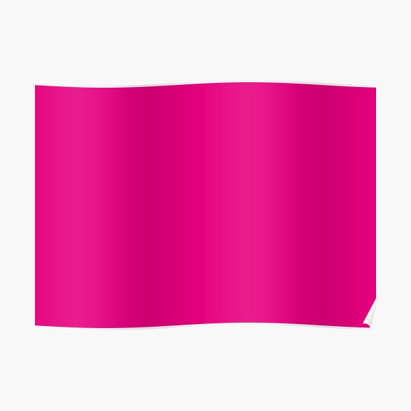 Hot Pink | Solid Color |  Poster