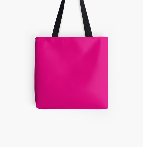 Hot Pink | Solid Color |  All Over Print Tote Bag