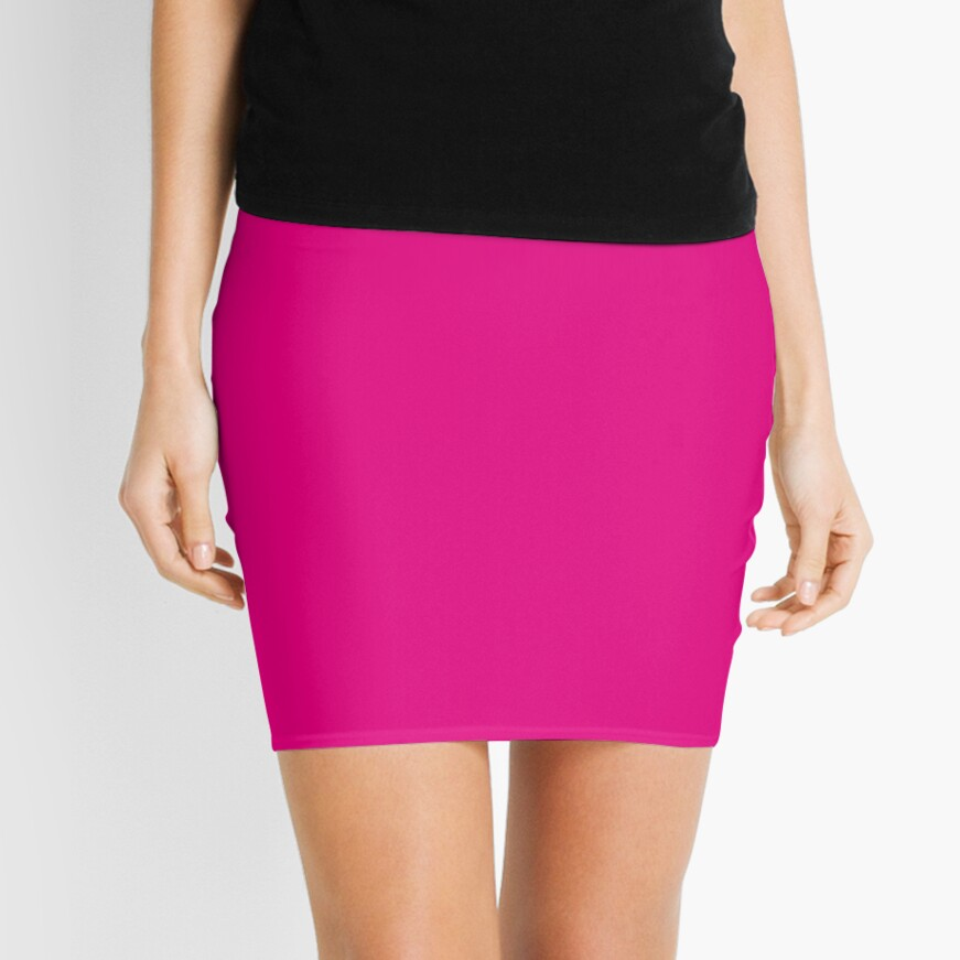 Hot Pink | Solid Color |  Mini Skirt