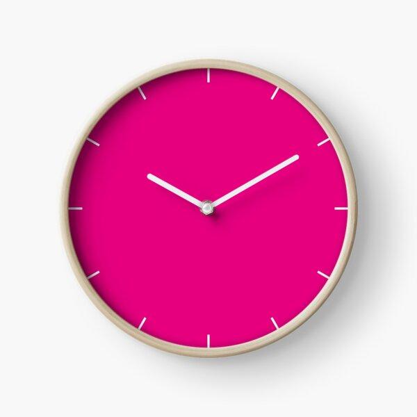 Hot Pink | Solid Color |  Clock