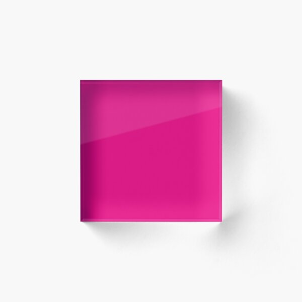Hot Pink | Solid Color |  Acrylic Block