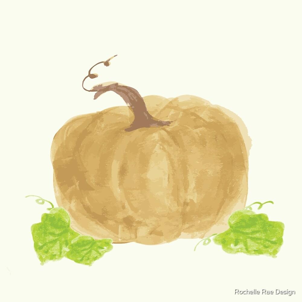 Harvest Pumpkin - Mustard w/leaves by rochellerae