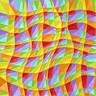 Circus Rainbow Plaid by PatriciaSheaArt
