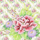 Kimono Bouquet Ditsy Chintz by PatriciaSheaArt