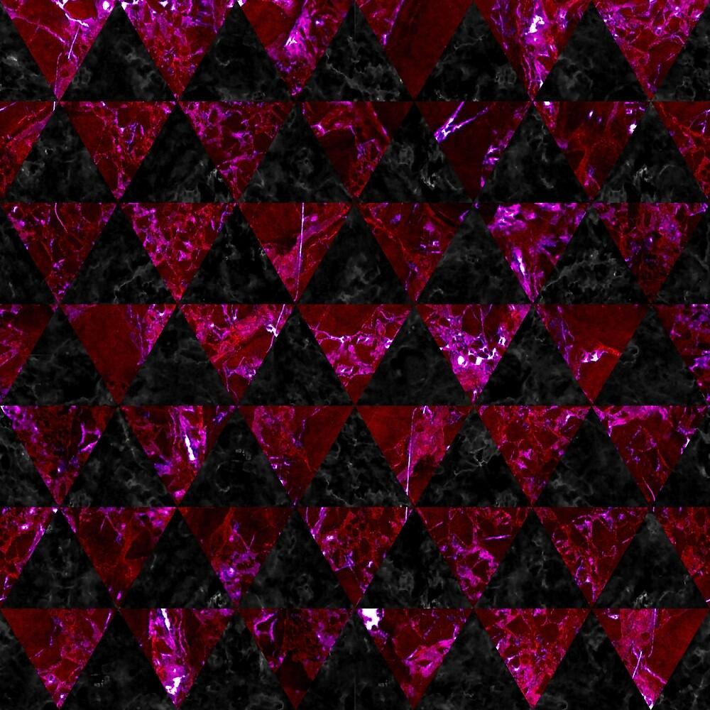 TRIANGLE3 BLACK MARBLE & BURGUNDY MARBLE by johnhunternance