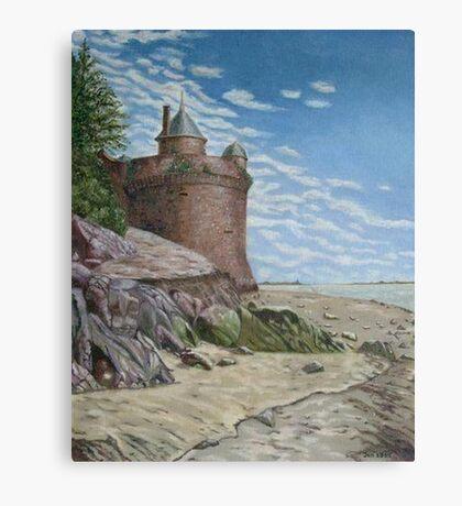 Tower, Mont St. Michel Normandie Canvas Print