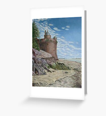 Tower, Mont St. Michel Normandie Greeting Card